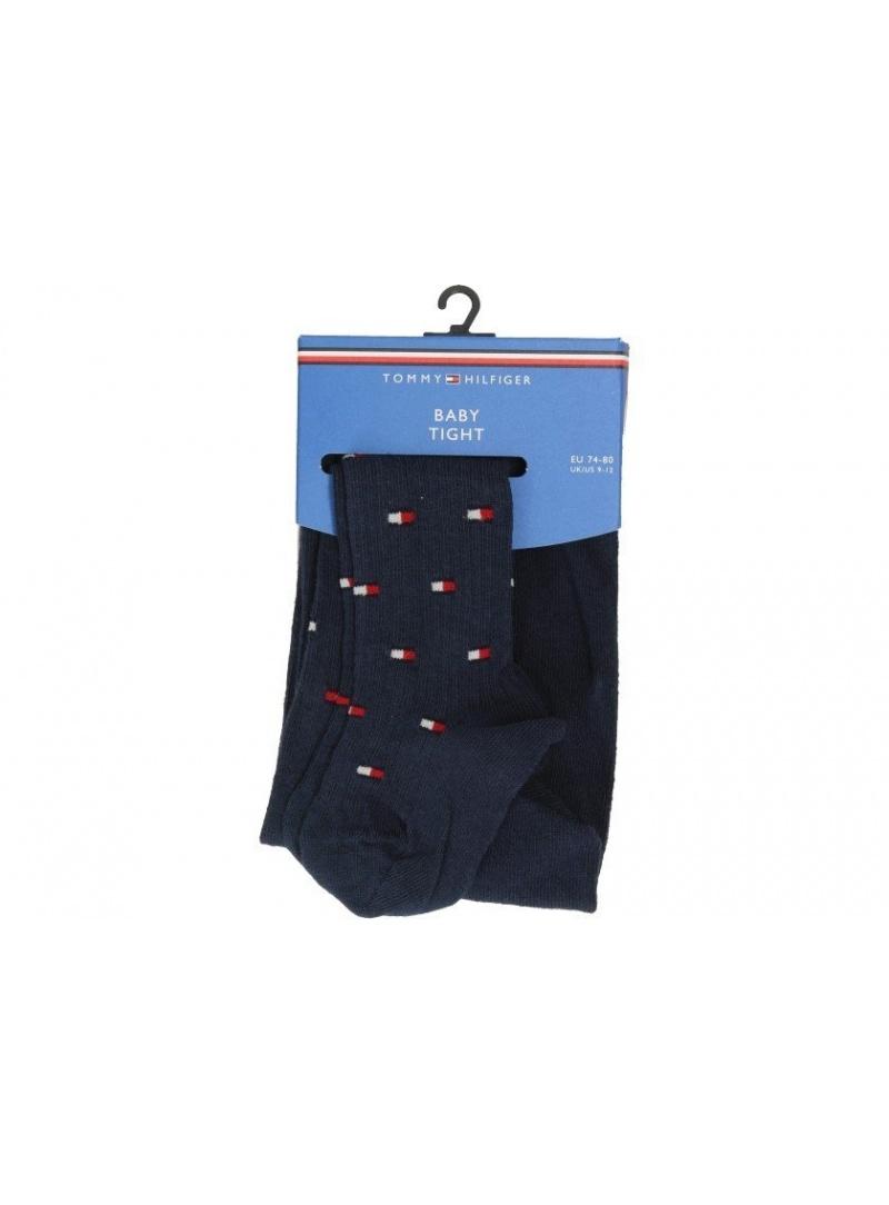 Granatowe Rajstopy Dziecięce TOMMY HILFIGER Baby Flag 100000800 001