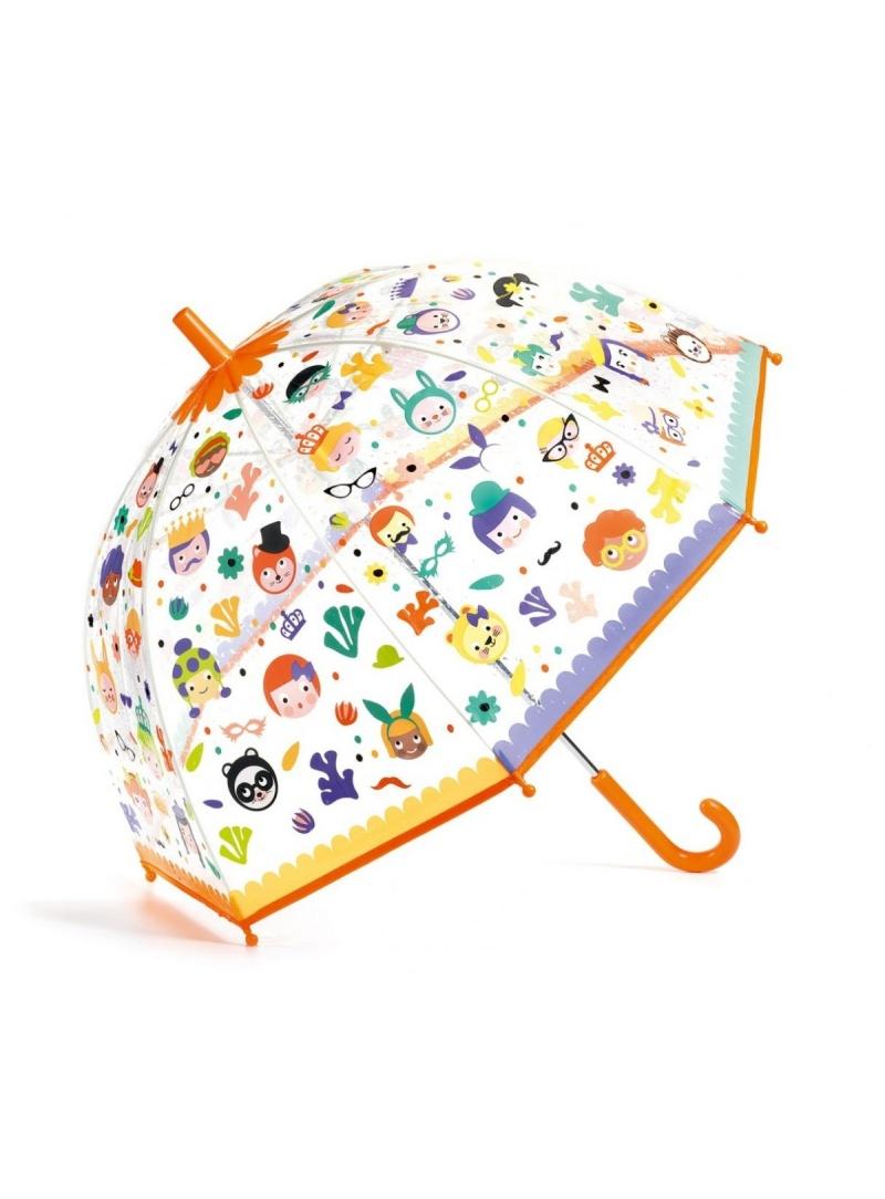 Przezroczysta Parasolka Dziecięca z Buźkami DJECO 04709 Magiczne Buźki