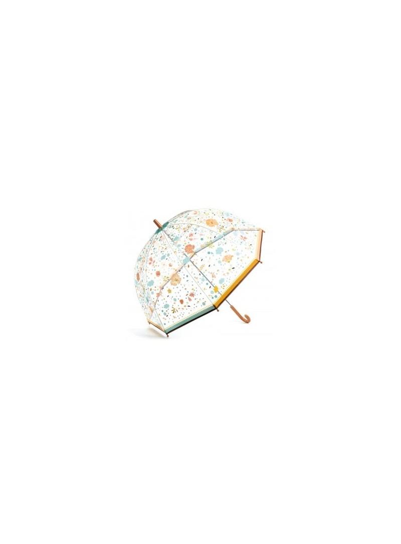 Przezroczysta Duża Parasolka z Kwiatami DJECO 04720 Małe Kwiatki