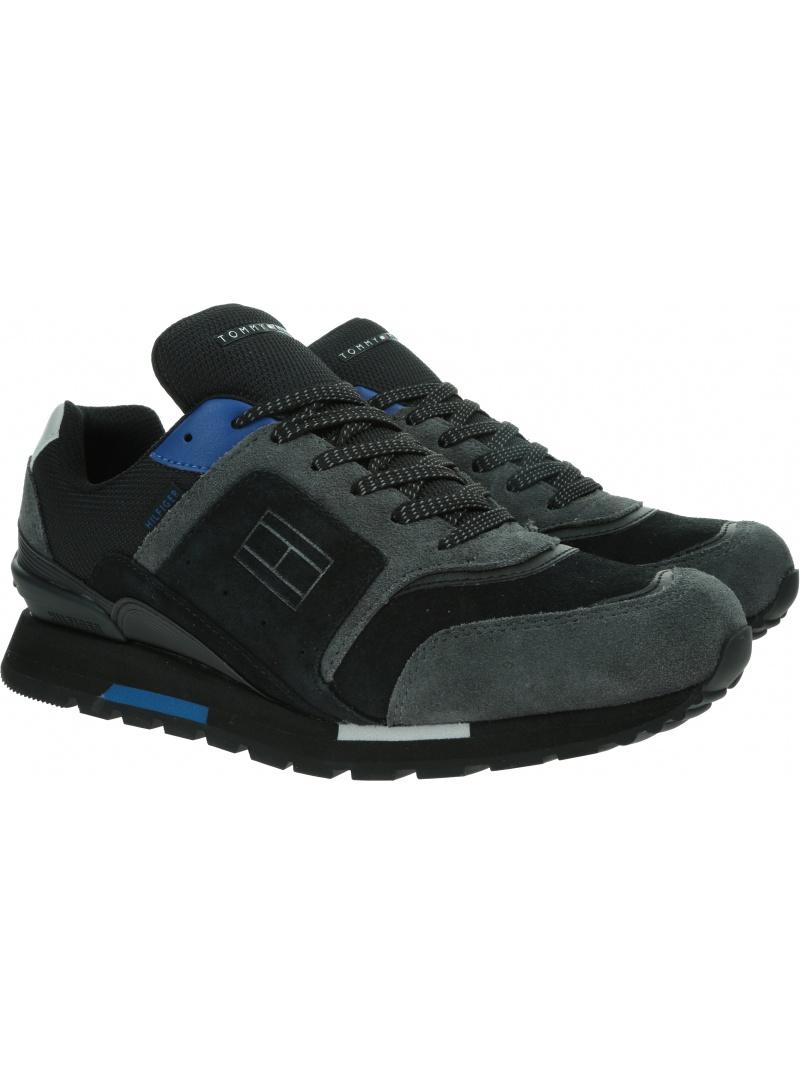 Sneakersy TOMMY HILFIGER Dorian 1C FM0FM03079 Black BDS