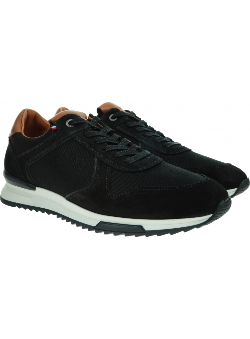 Sneakersy Męskie TOMMY HILFIGER Runner Craft Mix FM0FM02848 BDS