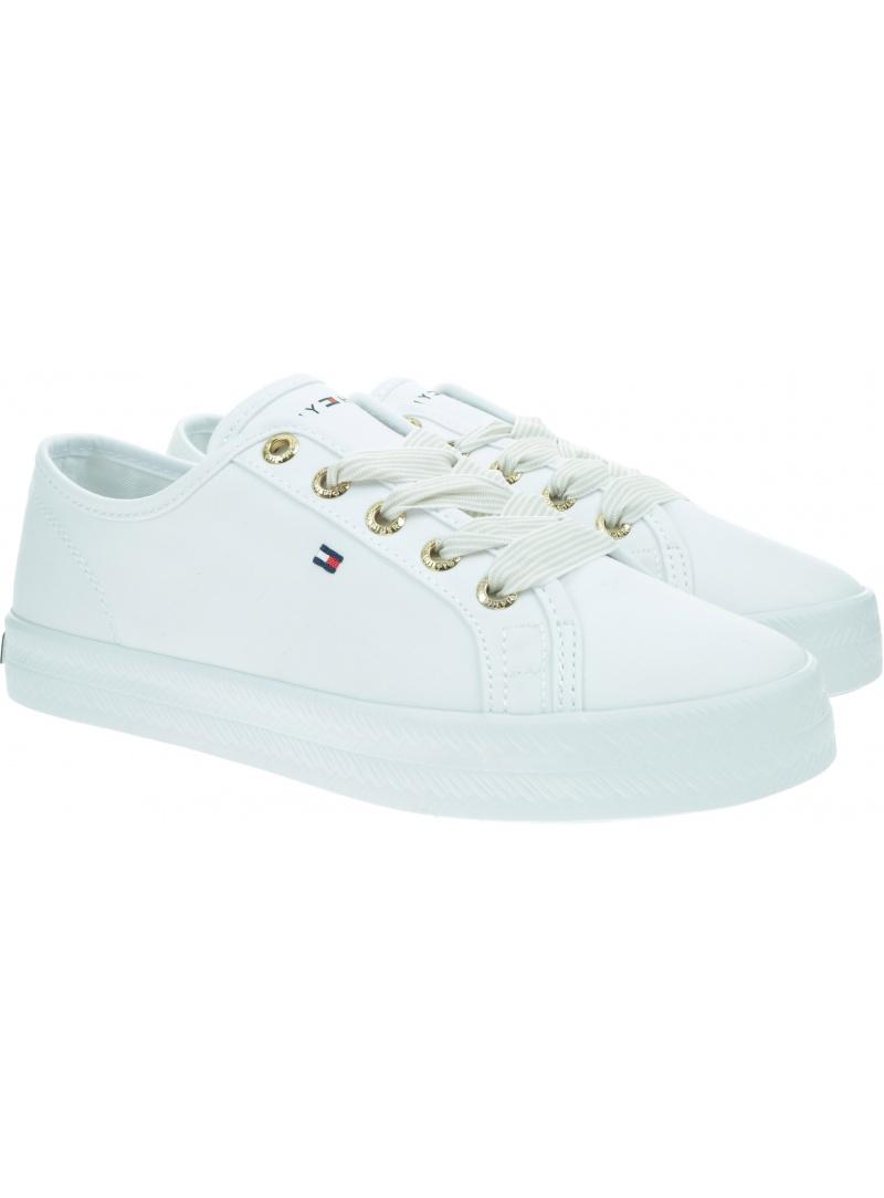 Białe Tenisówki TOMMY HILFIGER Essential Nautical Sneaker FW0FW04848 YBS