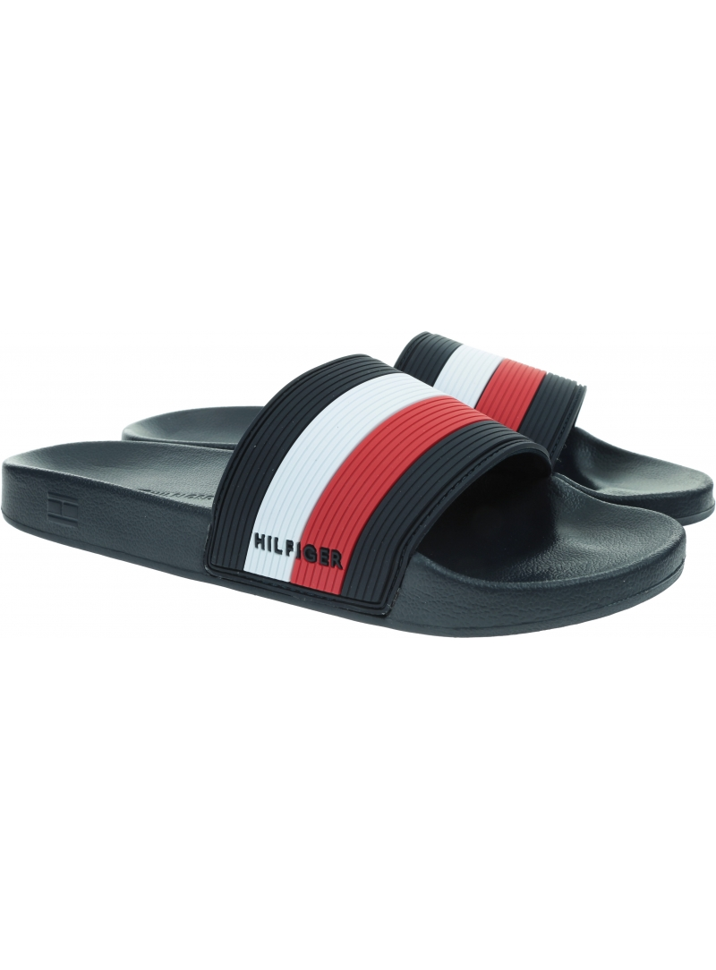 Klapki Męskie TOMMY HILFIGER Essential Corporate Pool FM0FM03375 DW5