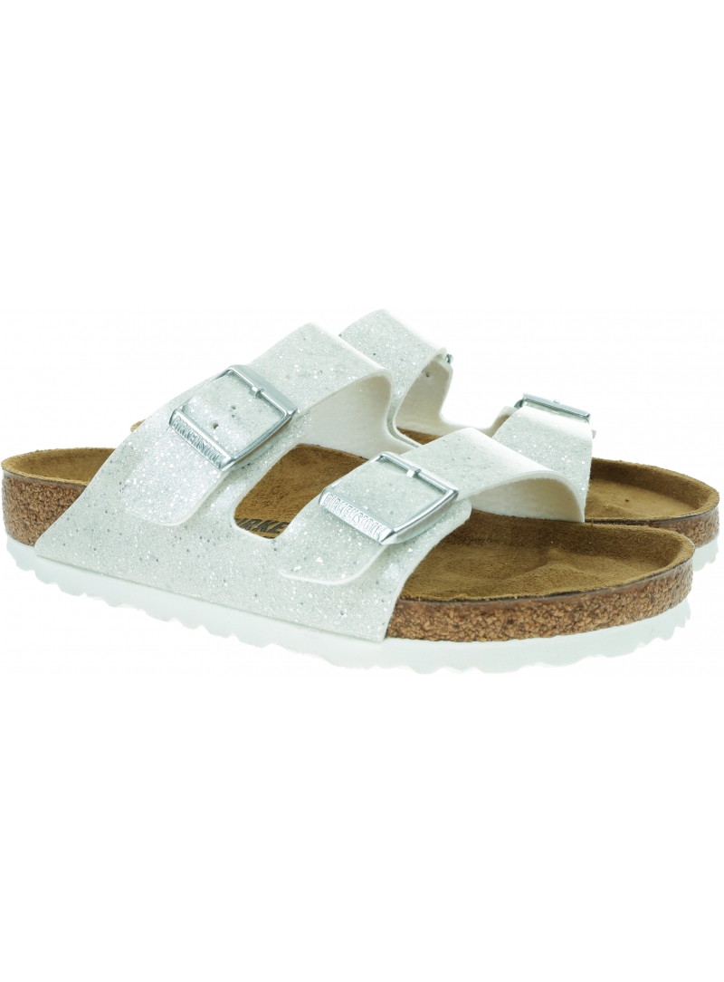 Klapki BIRKENSTOCK Arizona Kids BF Cosmic Sparkle White