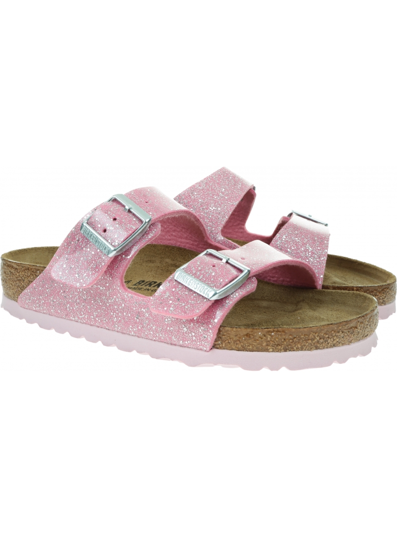 Klapki BIRKENSTOCK Arizona BF Cosmic Sparkle Candy Pink 1018871