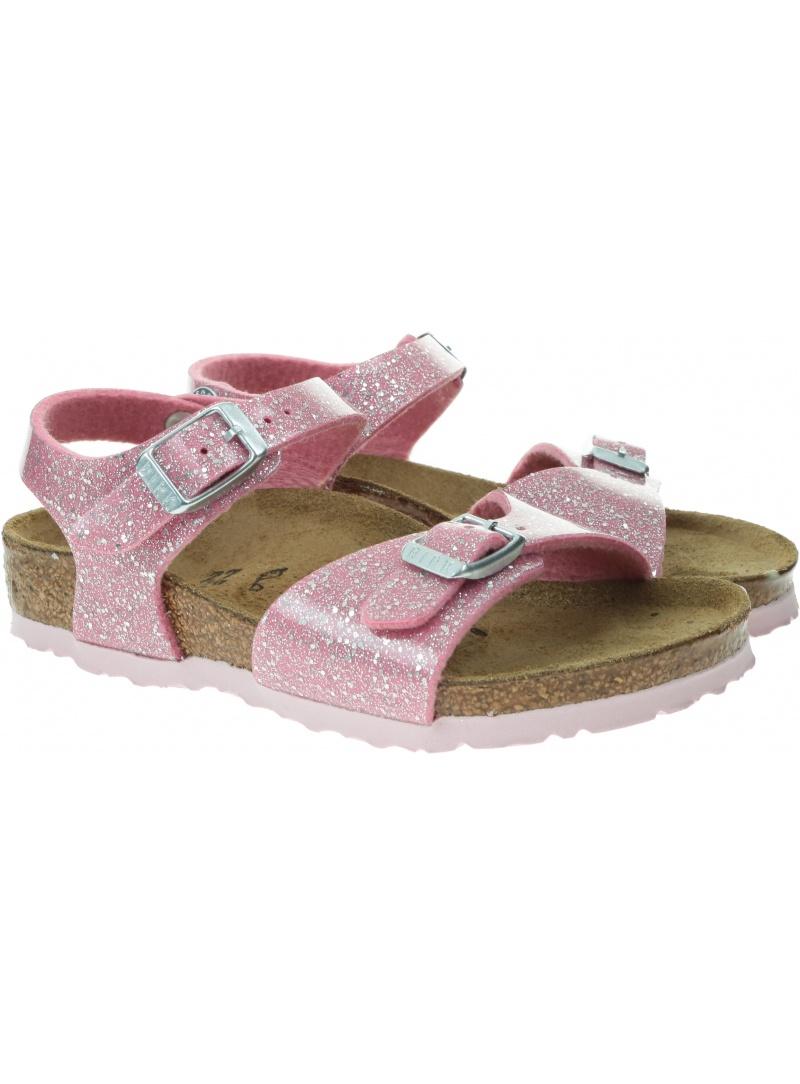 Sandały BIRKENSTOCK Rio Plain K BF Cosmic Sparkle Candy Pink 1018878