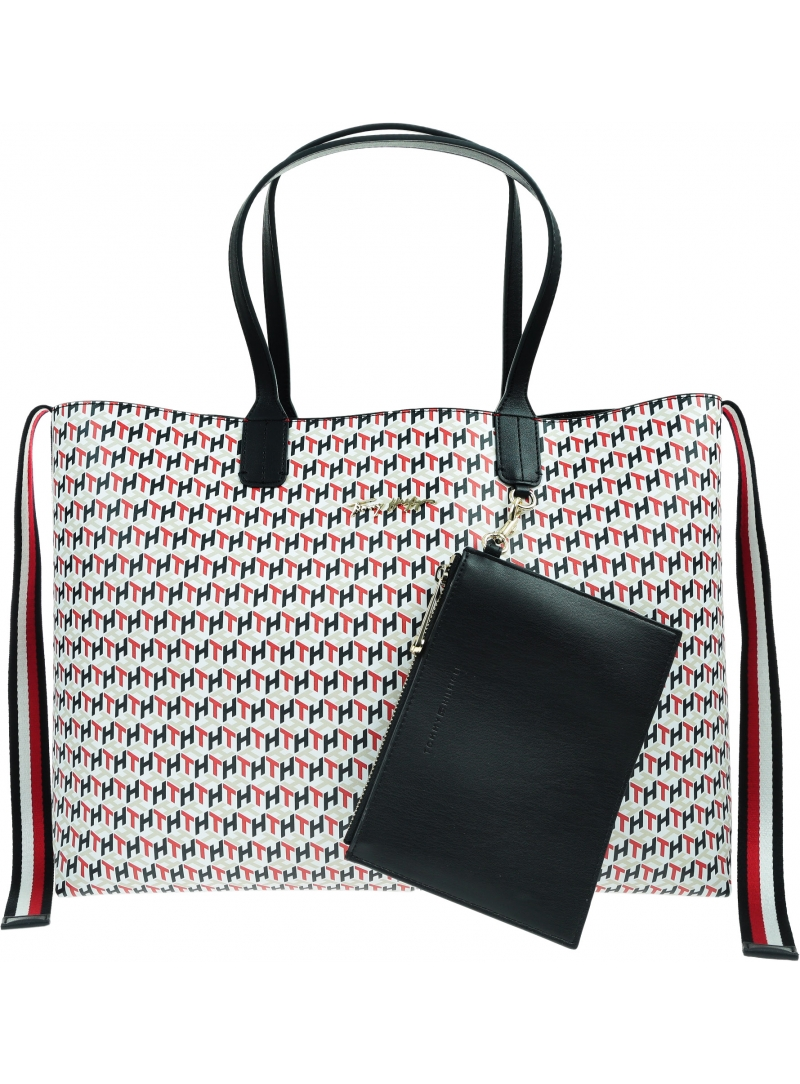 Torebka TOMMY HILFIGER Iconic Tommy Tote Monogram AW0AW09660 0GY