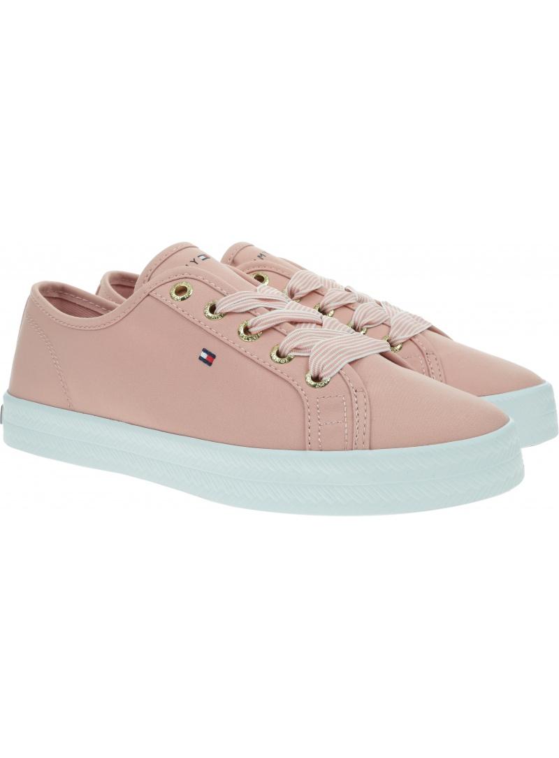 Różowe Tenisówki TOMMY HILFIGER Essential Nautical Sneaker FW0FW04848 TQS