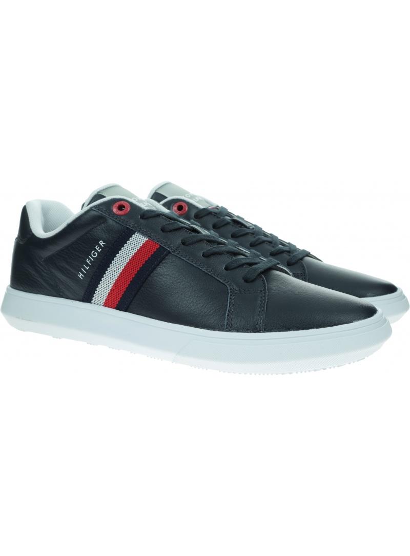 Sneakersy Męskie TOMMY HILFIGER Essential Leather Sneaker FM0FM03424 DW5