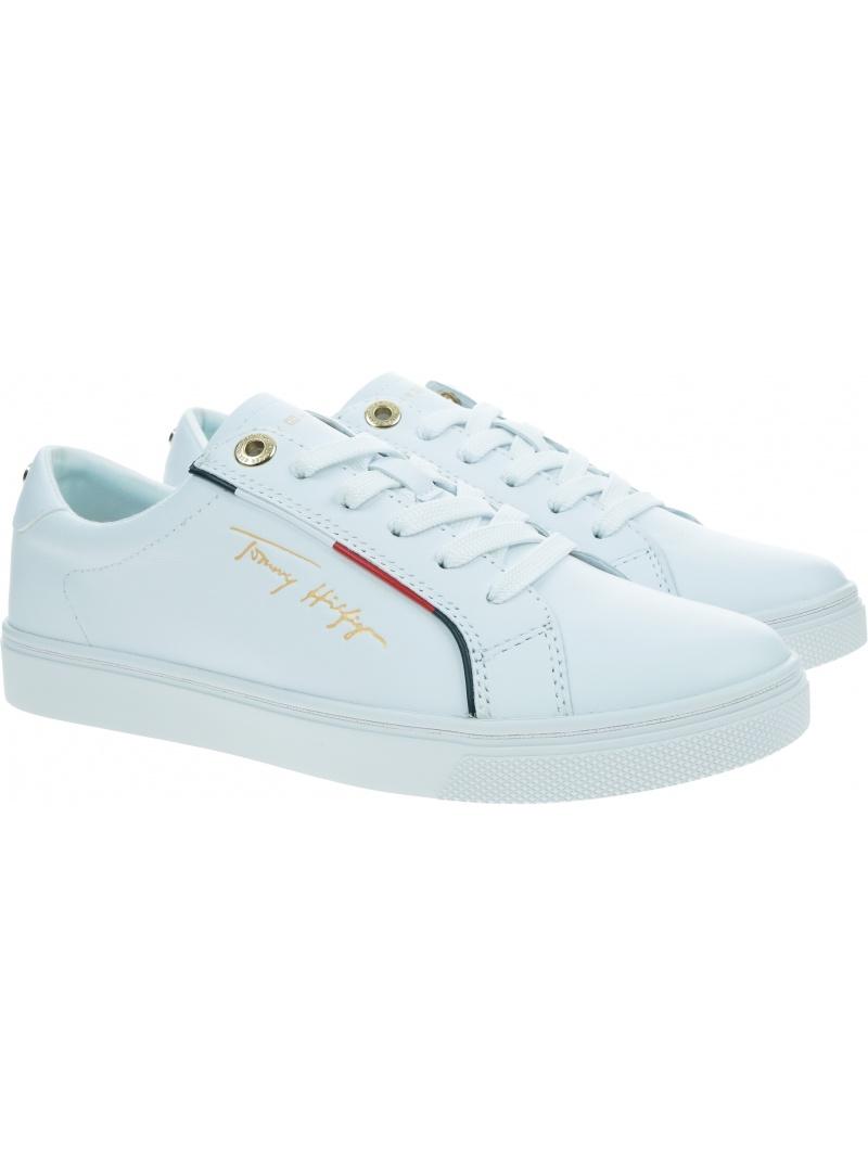 Białe Sneakersy TOMMY HILFIGER Cupsole Sneaker FW0FW05910 YBR