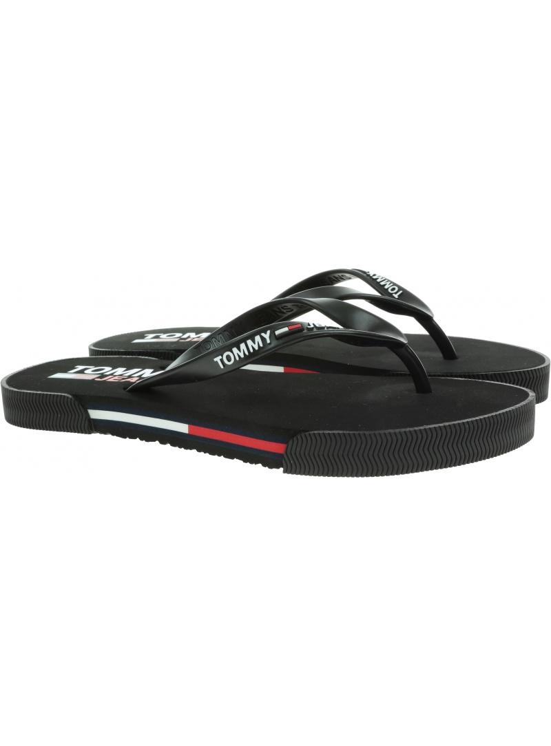 Japonki Damskie TOMMY JEANS Essential Flat Sandal EN0EN01433 BDS