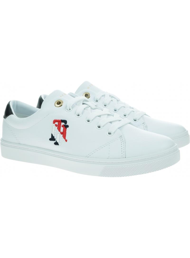 Białe Sneakersy TOMMY HILFIGER Tommy Monogram FW0FW05794 YBR