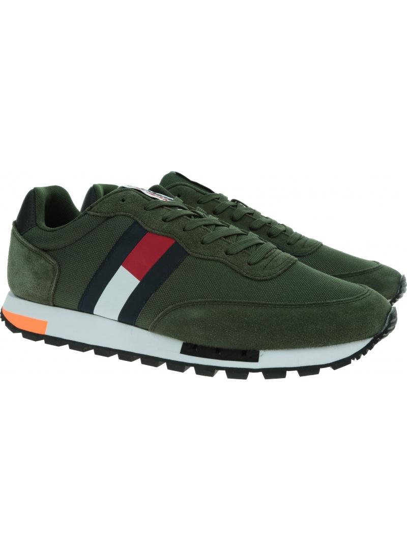 Sneakersy Męskie TOMMY JEANS Runner Sneaker Retro EM0EM00725 MRZ