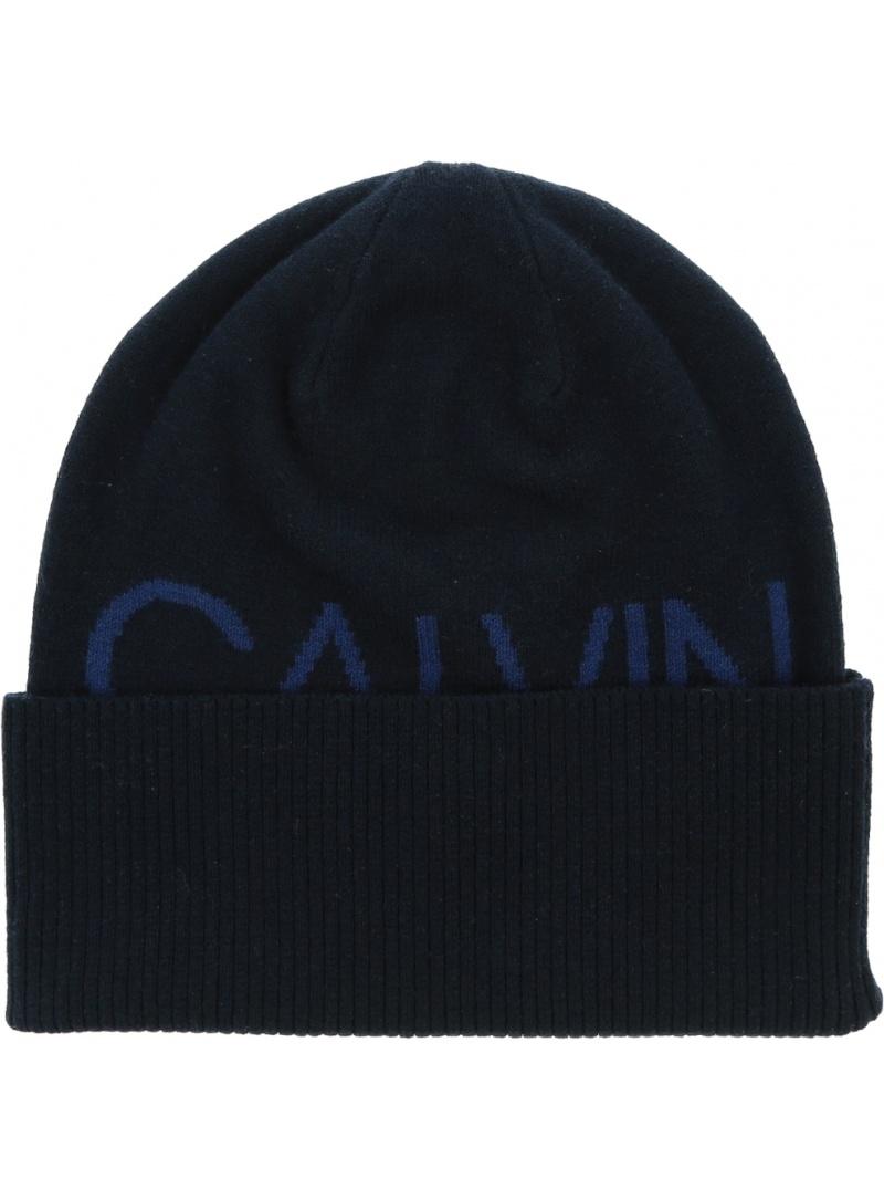 Granatowa Czapka CALVIN KLEIN Beanie K50K506226 CFE