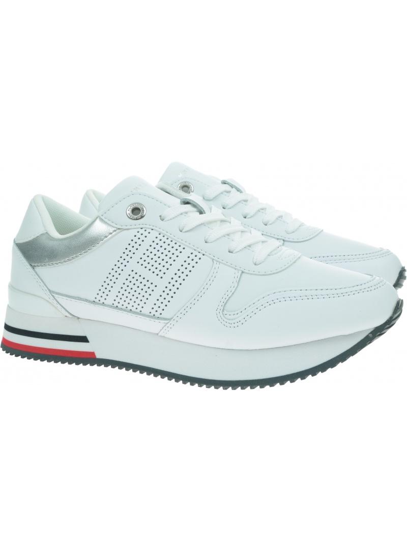 Białe Sneakersy TOMMY HILFIGER Corporate Active City Sneaker FW0FW05800 YBR