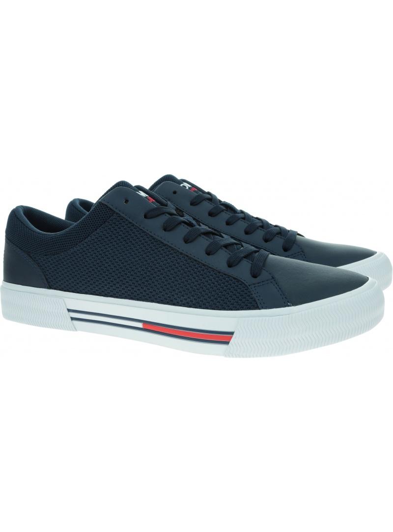 Granatowe Trampki Męskie TOMMY JEANS Vulcanized Sneaker EM0EM00721 DW5