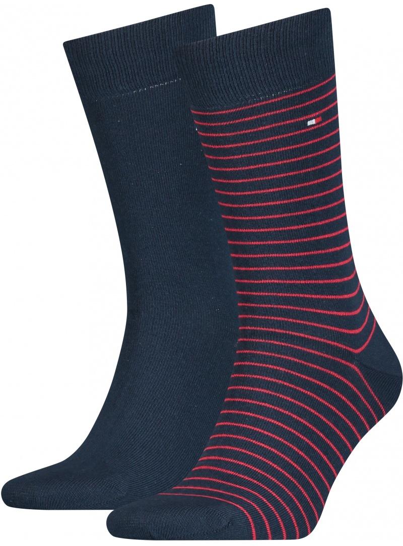 Skarpetki Męskie 100001496 085 TOMMY HILFIGER Men Small Stripe Sock (2-pak)