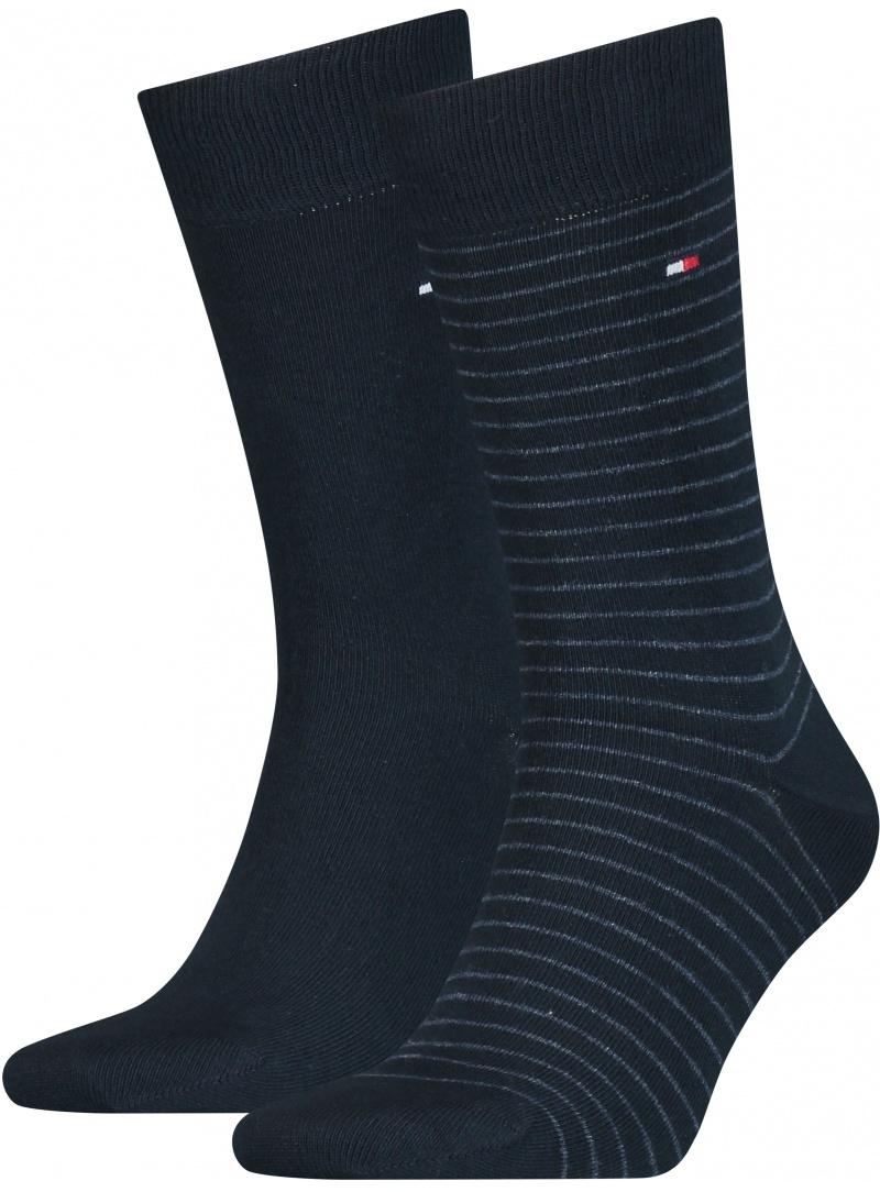 Skarpetki Męskie 100001496 322 TOMMY HILFIGER Men Small Stripe Sock (2-pak)