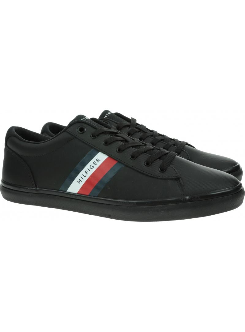 Sneakersy Męskie TOMMY HILFIGER Essentail Leather Vulc Stripes FM0FM03722