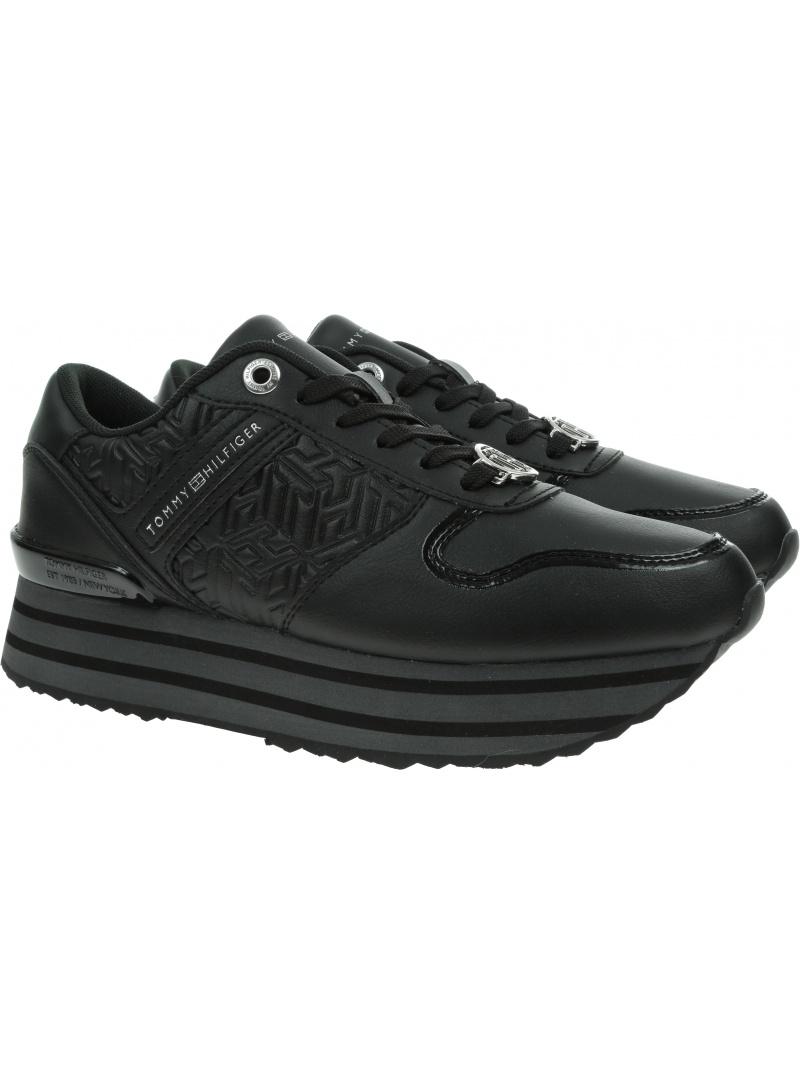 Sneakersy TOMMY HILFIGER Hilfiger Flatform Sneaker FW0FW05939 BDS