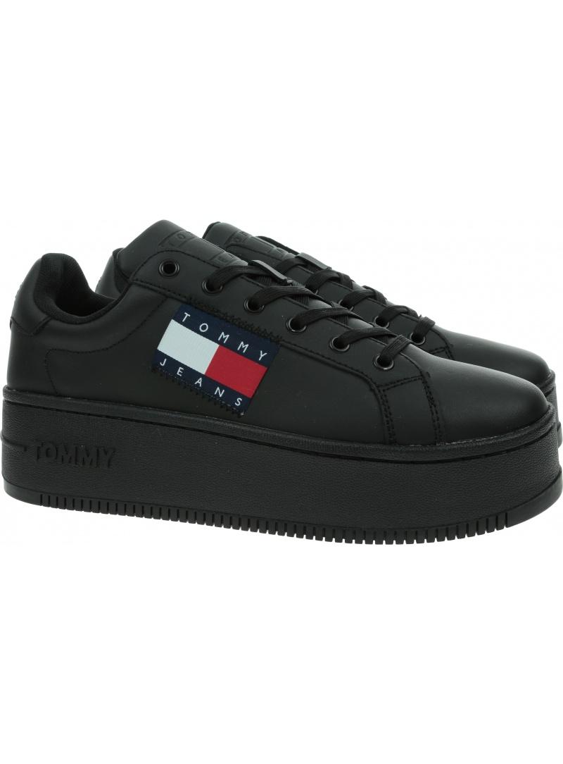 Sneakersy Damskie TOMMY JEANS Flatform Flag Branding Sneaker EN0EN01504 BDS