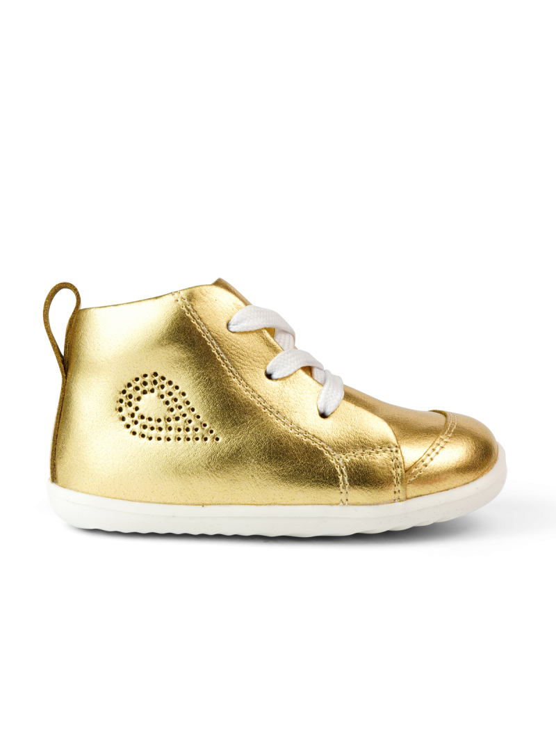 Złote Błyszczące Buty BOBUX Alley-Oop Gold Metallic 731504