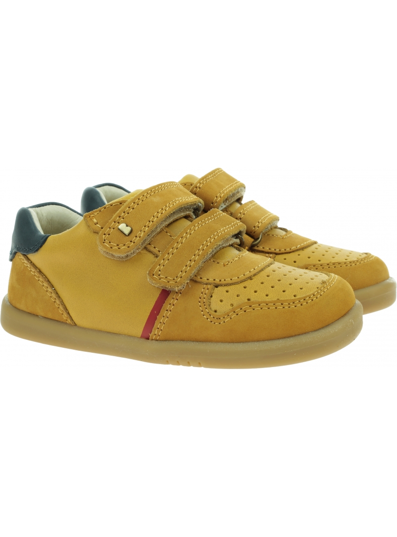 Żółte Półbuty BOBUX Riley Chartreuse + Navy 638103