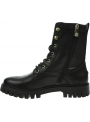 Czarne Glany Botki TOMMY HILFIGER Th Monogram Lace Up Boot FW0FW05994 BDS