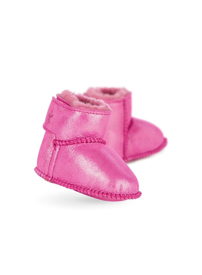 Boots EMU Baby Bootie Metallic Hot Pink