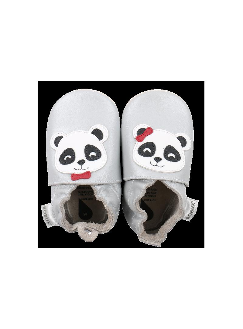 Pro miminka BOBUX 4296 SILVER PANDA SOFT SOLE