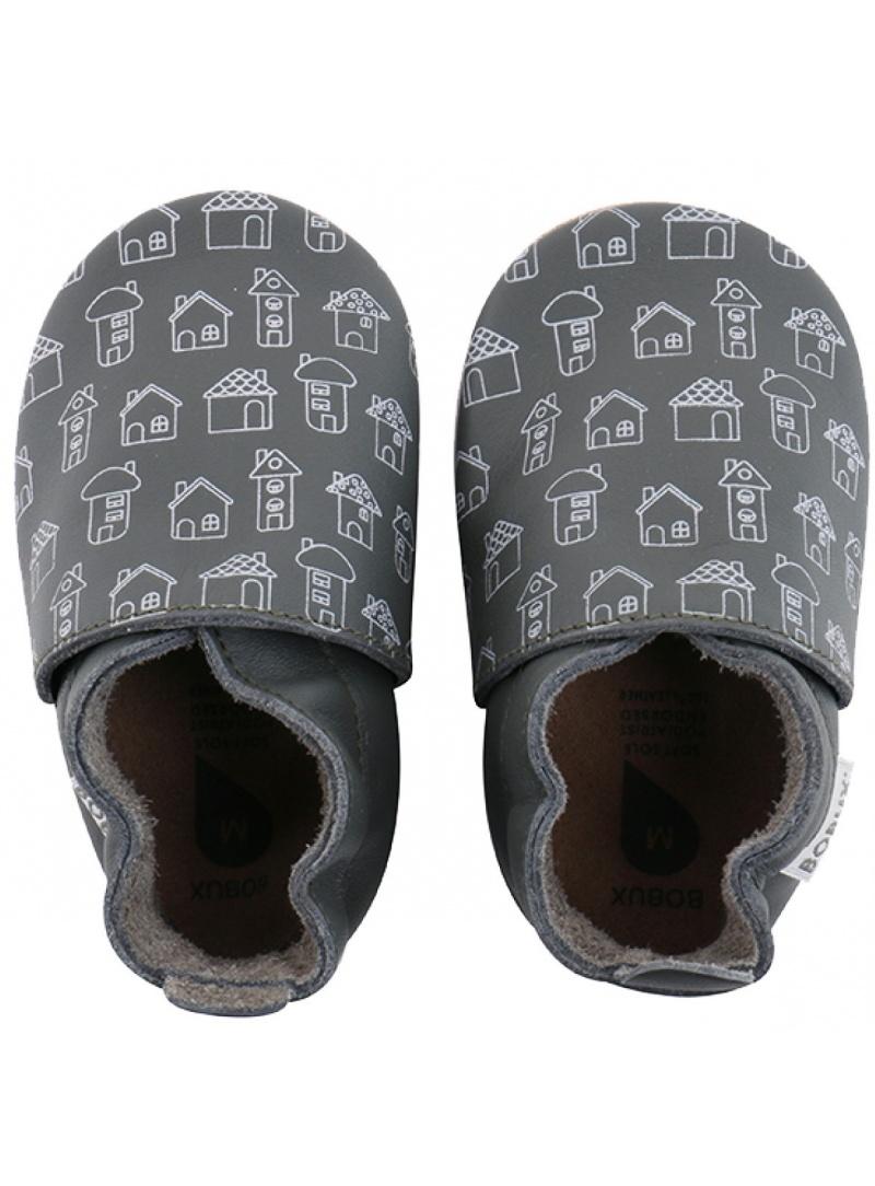 Für Babys BOBUX 4414 ARMY HOUSE PRINT SOFT SOLE