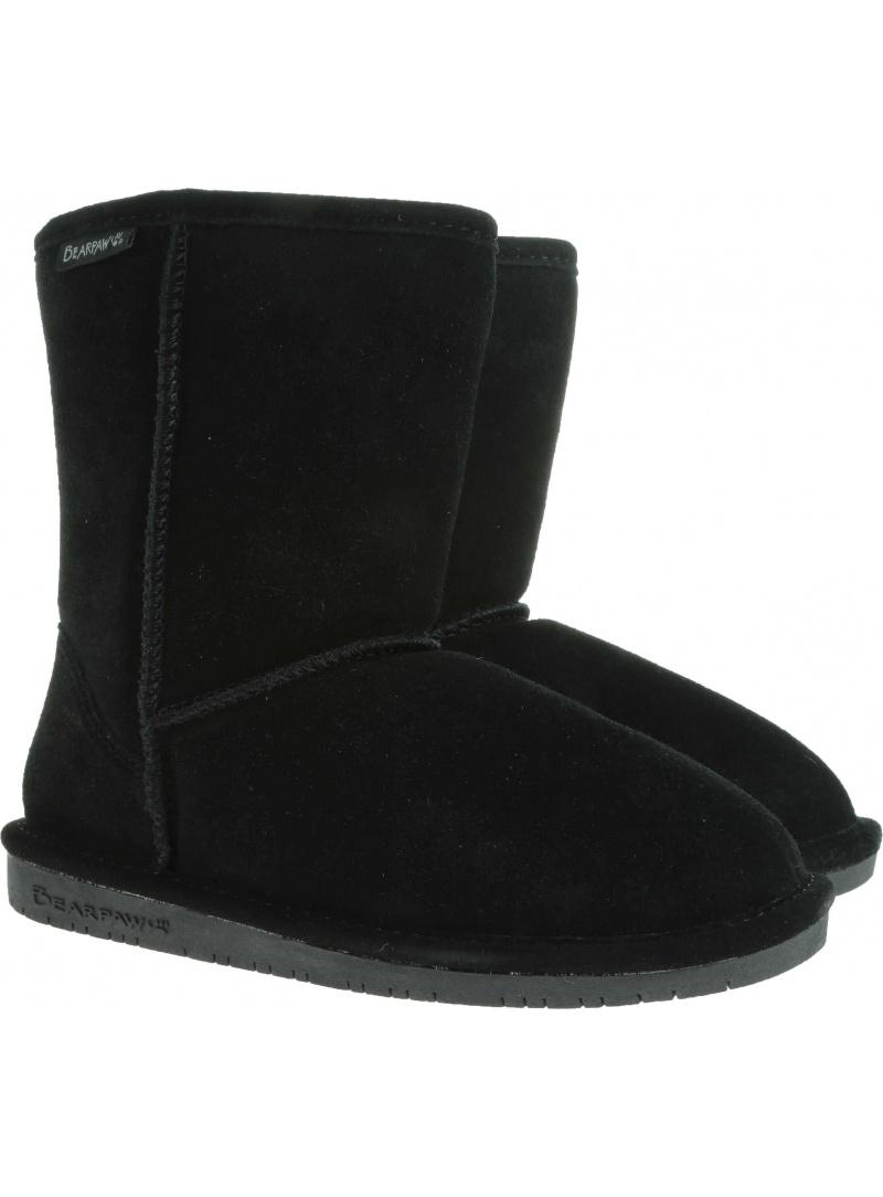 Home shoes BEARPAW EMMA YOUTH 608Y BP608Y BLACK