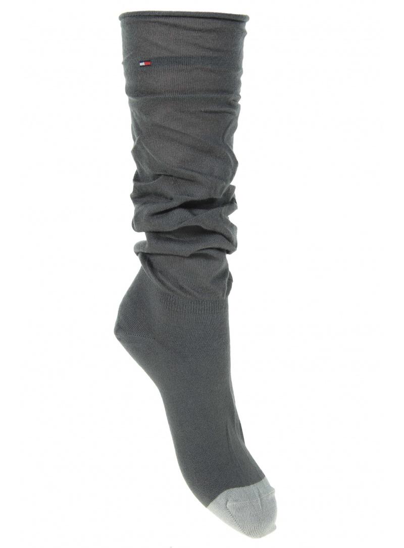 Ponožky TOMMY HILFIGER Women Slouchy Sock Middle Grey Melange