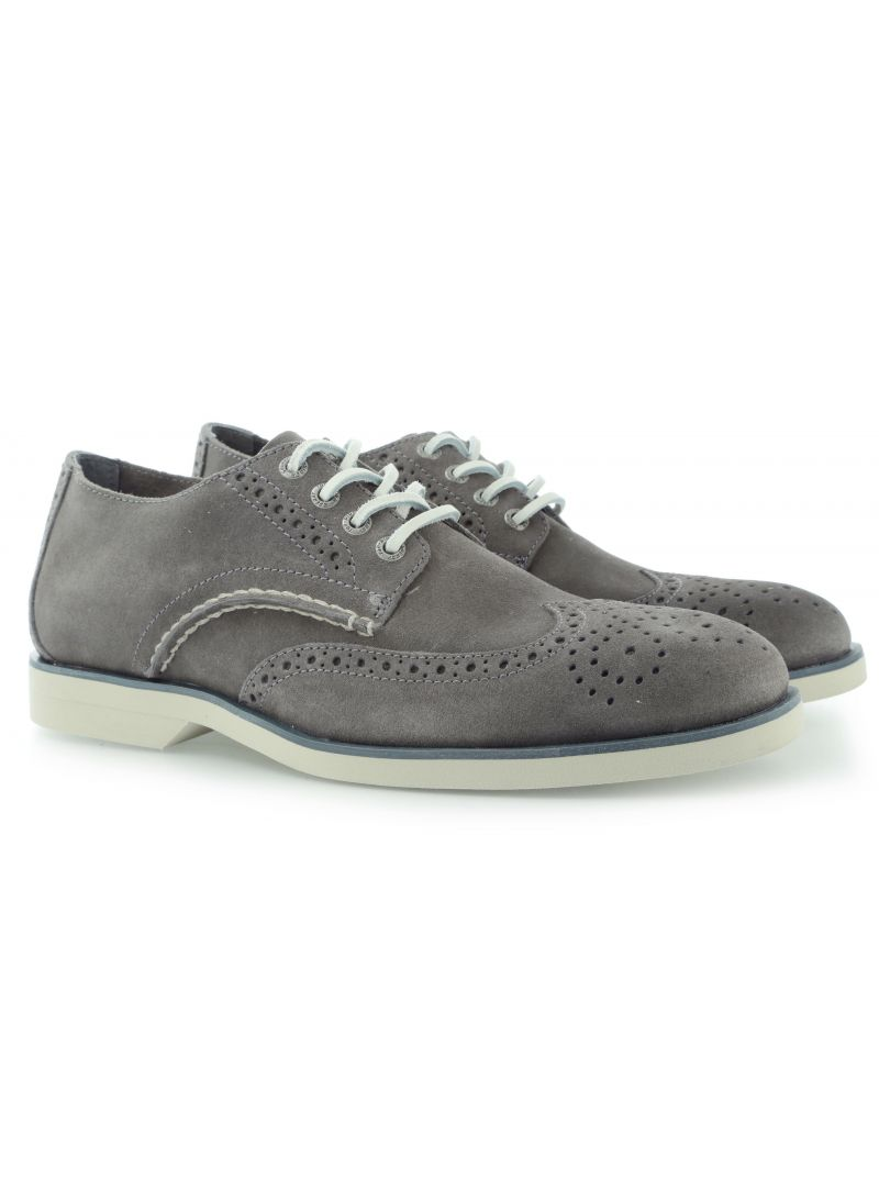PÓŁBUTY SPERRY BOAT OXFORD WING TIP GREY SUEDE