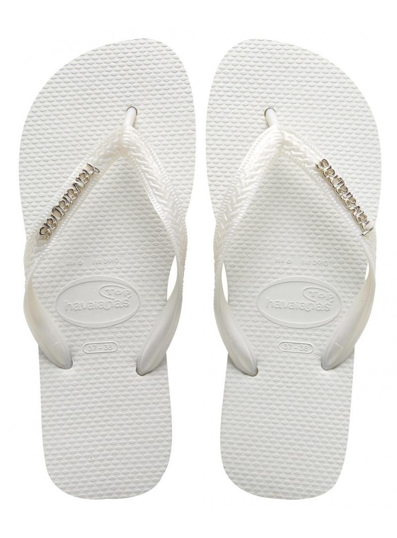Flip Flops HAVAIANAS TOP LOGO METALLIC WHITE PEARL