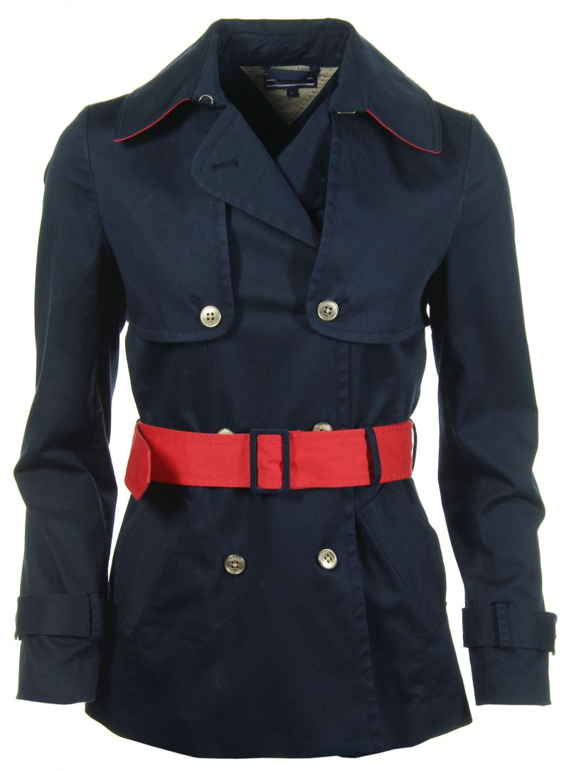 Trencz TOMMY HILFIGER Hayden Stretch Trench Core Navy
