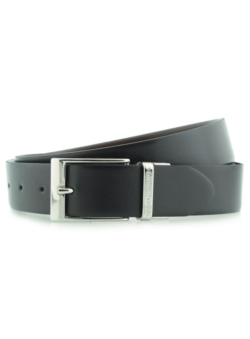 Klobouky TOMMY HILFIGER Gift Box Belt 2 Black Dark Brown