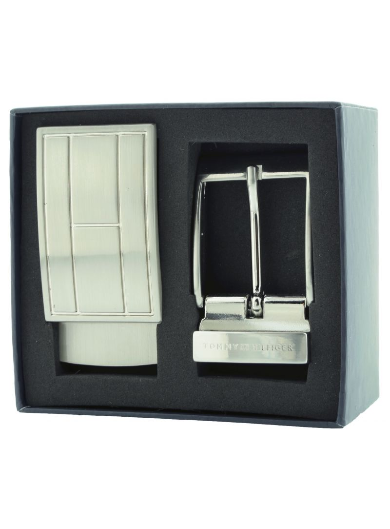 Pasek TOMMY HILFIGER Gift Box Double Buckle Adjustable Black