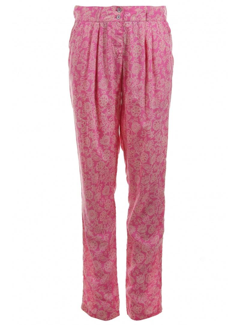 Spodnie TOMMY HILFIGER Pama Flower Pant Shocking Pink