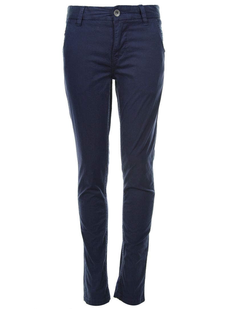 Chłopięce Spodnie TOMMY HILFIGER Freddy Chino Garment Dyed Medieval Blue