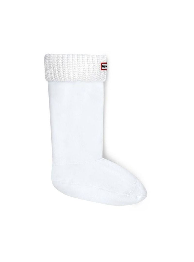 SKARPETY DO KALOSZY HUNTER HALF CARDIGAN BOOT SOCK WHITE