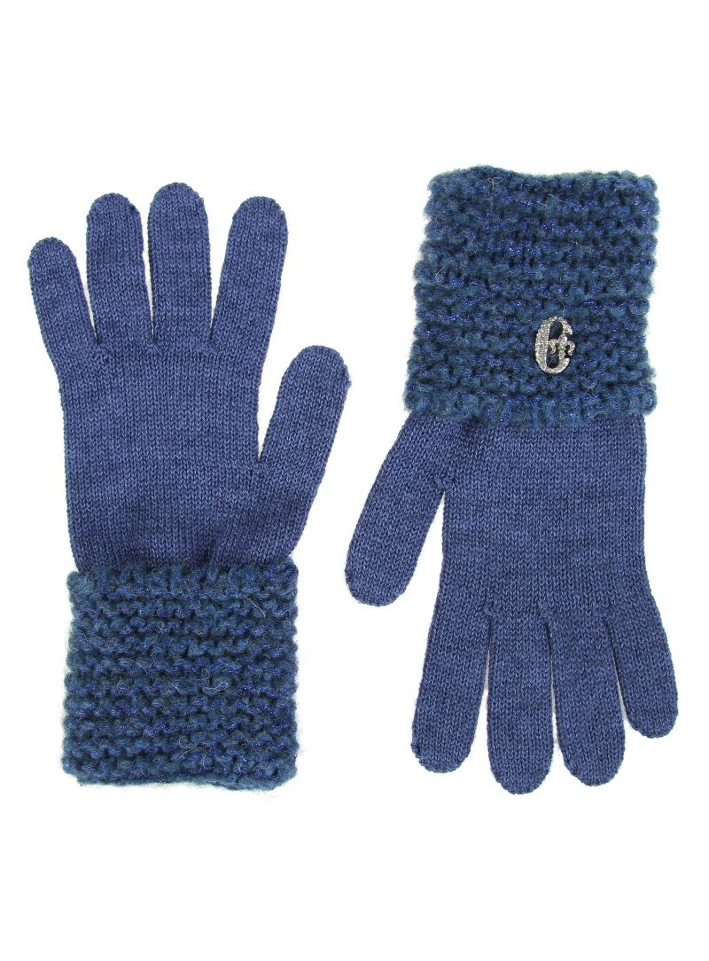 RĘKAWICZKI CONTE OF FLORENCE KNITTED GLOVES BLUE