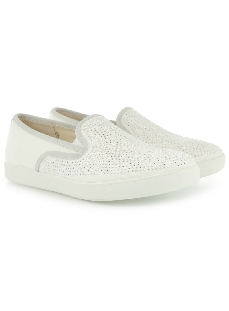 PÓŁBUTY LIU JO SLIP-ON MARY WHITE COTTON