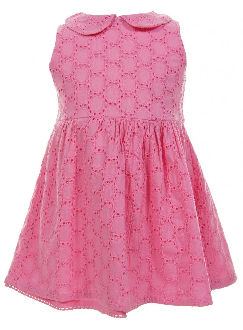 Sukienka TOMMY HILFIGER Broidery Baby Dress Sleeveless Sachet Pink