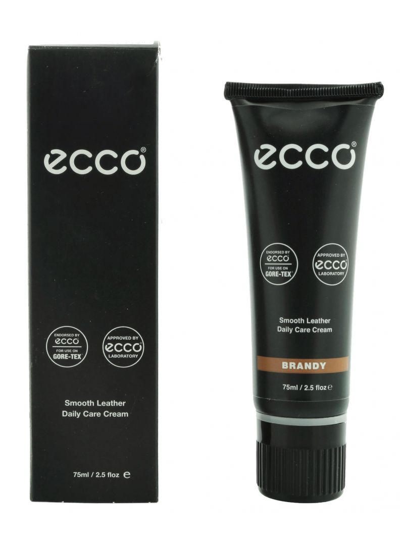 ECCO SMOOTH LEATHER CARE CREAM - PASTA PIELĘGNACYJNA JASNY BRĄZ BRANDY 75ML