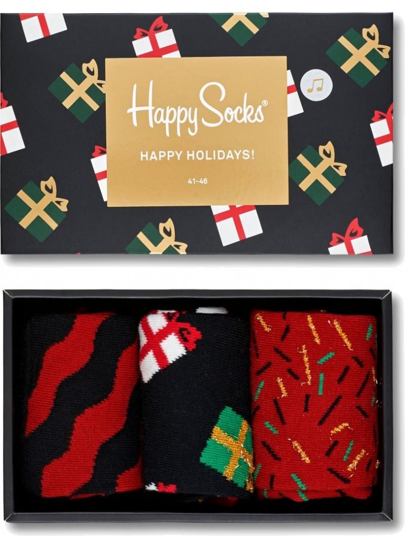 GIFT BOX SKARPET HAPPY SOCKS XMAS08-7001 (3-PAK) - Skarpety