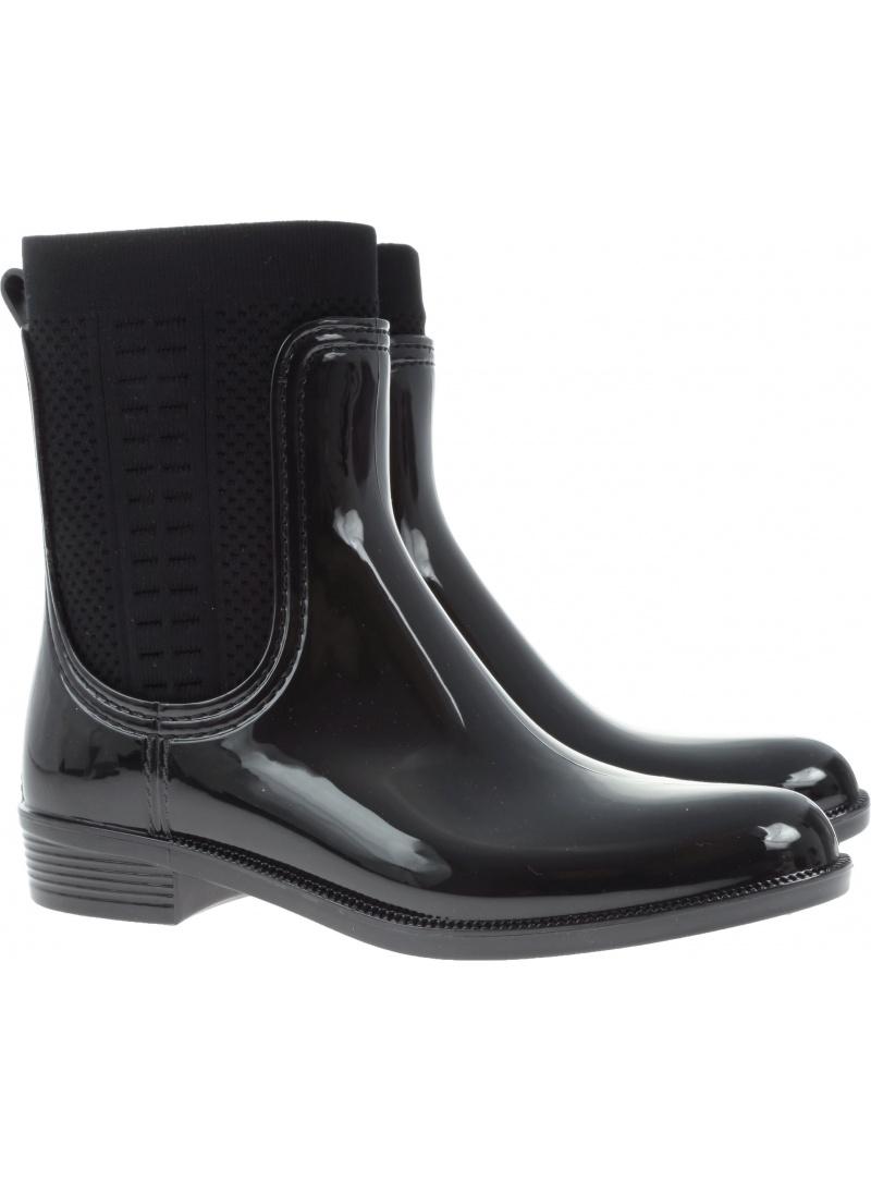Kalosze TOMMY HILFIGER TOMMY Knit Rain Boot FW0FW02940 990 - Kalosze