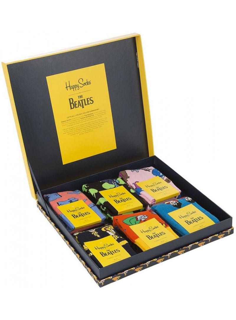 GIFT BOX SKARPET THE BEATLES HAPPY SOCKS XBEA10-2000 (6-PAK) - Skarpety