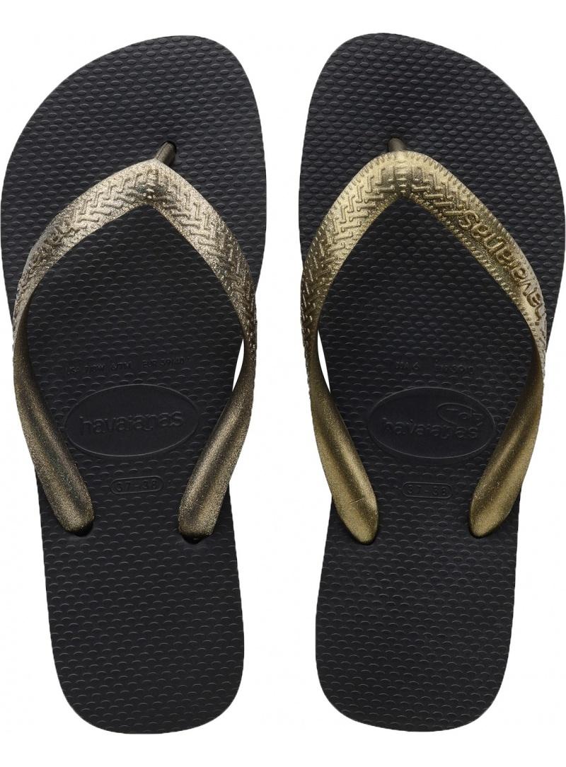 Flip Flops HAVAIANAS TOP TIRAS BLACK GOLDEN