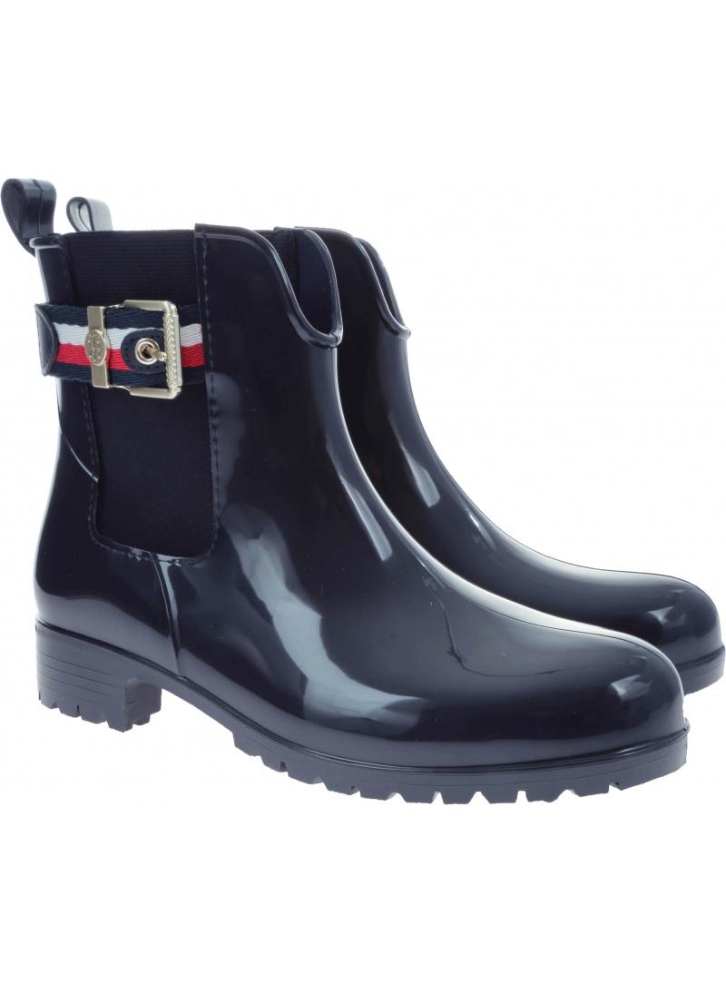 Regenstiefel TOMMY HILFIGER Corporate Belt Rain FW0FW03329 403